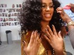 10.10 Solange with Obama Minx nails by Lisa Logan