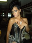 11.23.08 Rihanna with Black and Chrome Polka Dot Minx at the AMAs manicure and photo by Kimmie Kyees