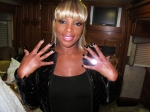 7.9.2011 Mary J. Blige Black with Silver Moons Minx applied and photographed by Kimmie Kyees