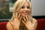 Pixie Lott Black with Chrome Polka Dot Minx manicure and photograph by Karen Alder